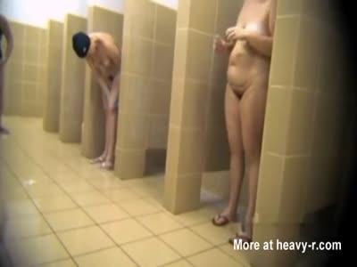 Mature Ladies In Shower