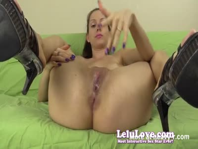 Girl Spitting On Her Shaved Cunt