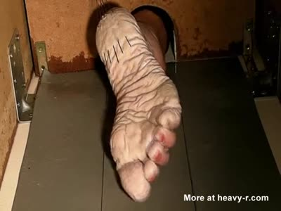 Bianca's wet feet torture...Sawing 2014 part 1