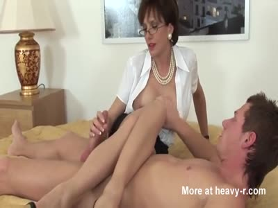 Mature Woman Plays WIth Young Boys Cock