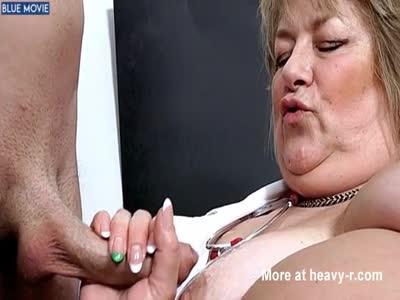 Fat Nurse Jerking Cock