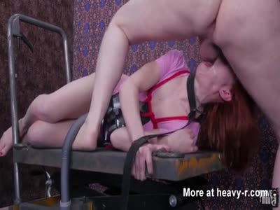Vacuuming Her Slobber During Her Face Fucking