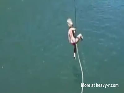 Girl Tears Her Vagina On A Rope Swing