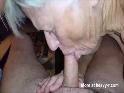 Horny Granny Eating Cock