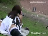 Girl Shoots Big Gun