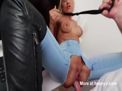 Blonde MILF Takes Piss And Sperm After Anal