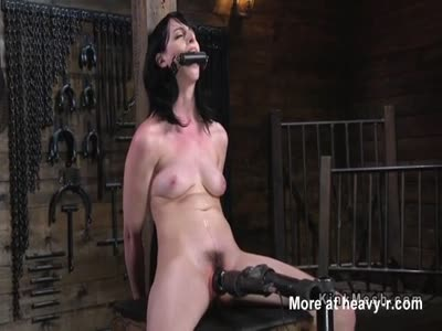 Brunette In First Time Bondage