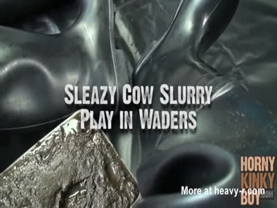 Sleazy Cow Slurry Play in Waders