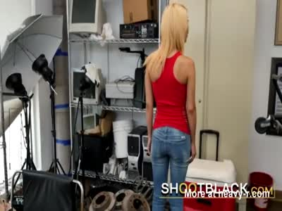 Hot blonde gets her kicks off by fucking movie director