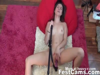 Teen Fucking With Dildo Tool