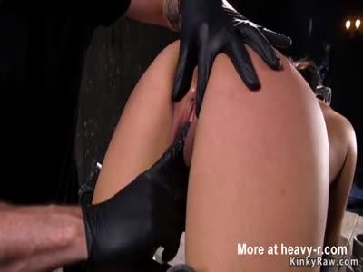 Asian slave gets bastinado in device bondage