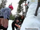 College Girl Fucking A Snowman