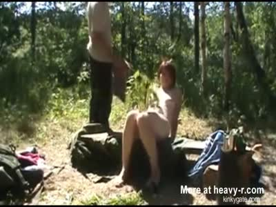Outdoor punishment with nettles