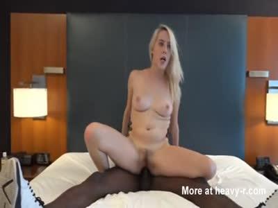 Blonde Creampied By Big Black Cock