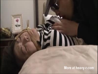 Burglar Rapes Young Japanese Housewife