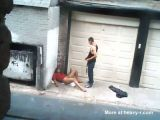 Drunk Prostitute Fucked In Back Alley