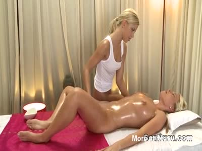Naked Masseuse Giving Massage