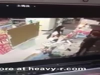 Angry Employee Pees On Shop's Counter