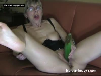 Shitty Anal Fucking Cucumber