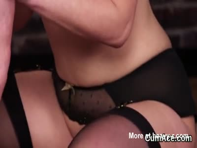Sexy centerfold gets sperm shot on her face gulping all the