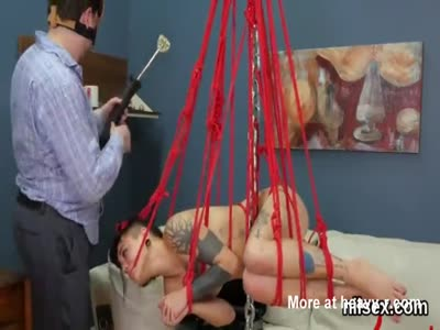 Tied Up Teen Likes Her Anal Kinky