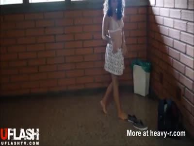 Teen Naked At School