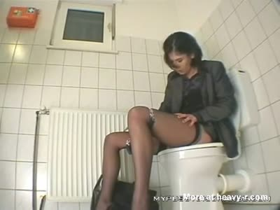 MILF Caught Masturbating On Toilet