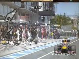 Tyre Hits Camera Man At Pit Stop