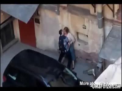 Fucking Old BBW In Public