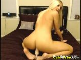 Girl with perfect body rides her dildo