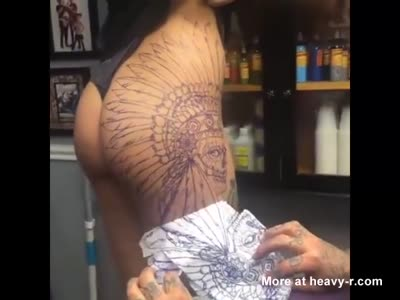 Hot Body Ruined With Ugly Tattoo