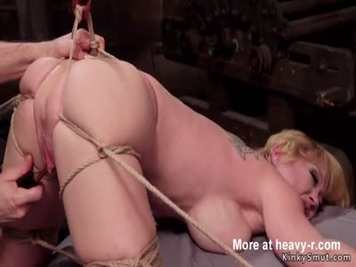 Toying Bound Big Tits Blonde