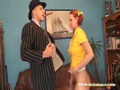 Anal Lesson By The Big Boss