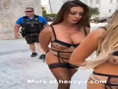Three Hot Lingerie Babes Arrested By Miami Police