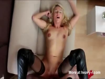 Blonde pussy creampied