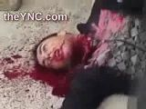 Shot in the Neck Spewing Blood from his Jugular Vein