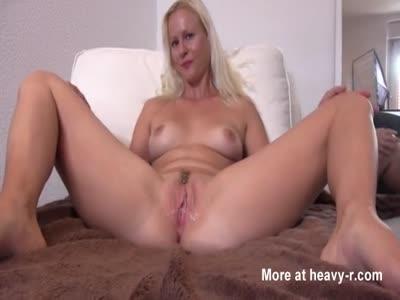 German blonde wife pussy creampie
