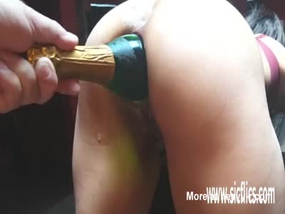 Fucking Ass With Big Bottle