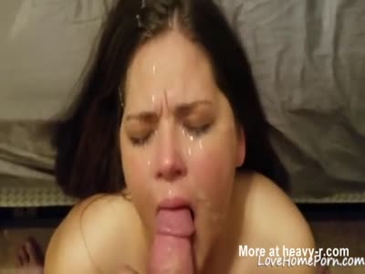 Chubby Teen Face Gets Glazed