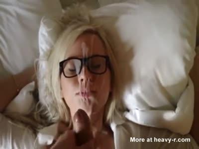 Cumming On Nerd Girl's Glasses