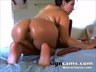 Horny Latina Ass Masturbation