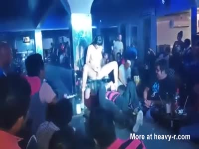 Stripper Squirting In Customers Face