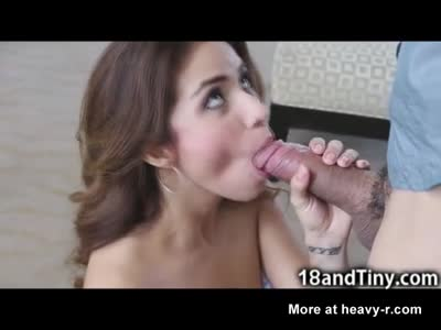 Small Teen Latina Takes Facial Cumshot