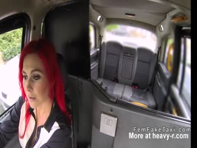 Huge tits lesbians toying in fake taxi