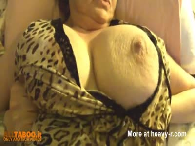 Fat Granny Showing Her Big Boobs