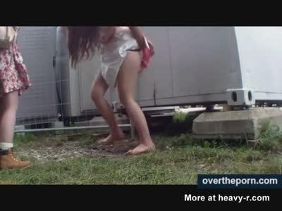 Spying On Drunk Peeing Teens