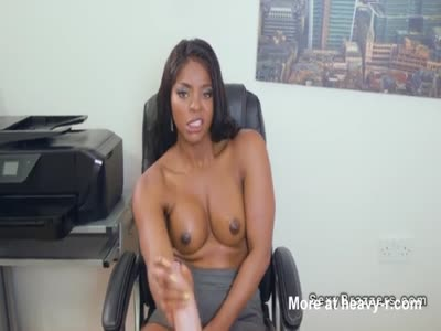 Ebony Girl Glazed On Tits