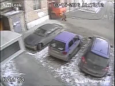 Elderly Woman Run Over By Garbage Truck