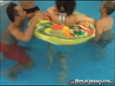 Helpless Teen vs 15 Pool Pervs!