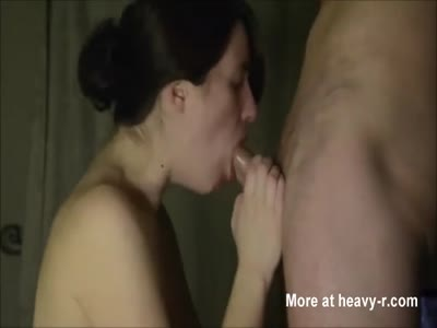 Amateur guy fucking her face.